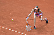 Agnieszka Radwanska from Poland competes in women's single first round while Day First during The French Open 2014 at Roland Garros Tennis Club in Paris, France.<br /> <br /> France, Paris, May 25, 2014<br /> <br /> Picture also available in RAW (NEF) or TIFF format on special request.<br /> <br /> For editorial use only. Any commercial or promotional use requires permission.<br /> <br /> Mandatory credit:<br /> Photo by © Adam Nurkiewicz / Mediasport