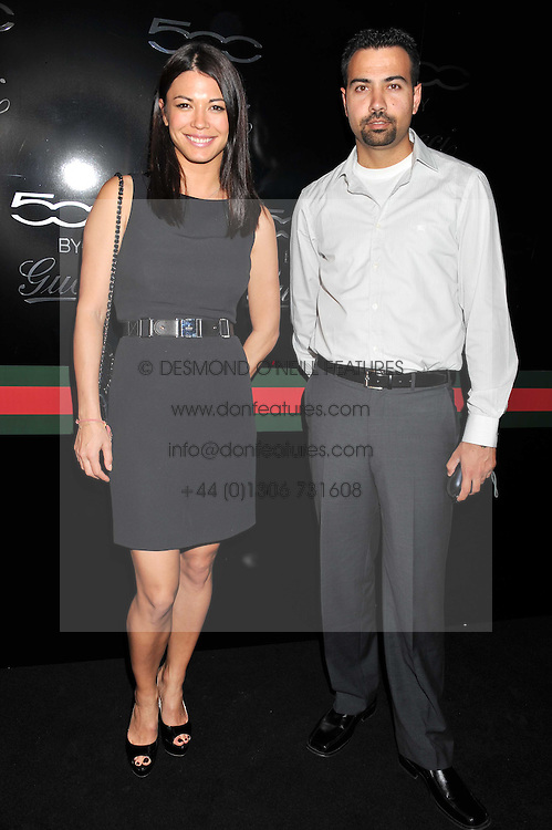 LOHRALEE ASTOR and her brother KEN STUTZ at a party to launch the Gucci designed Fiat 500 customized by Gucci Creative Director Frida Giannini in collaboration with FIAT's Centro Stile, held at Fiat, 105 Wigmore Street, London on 27th June 2011.