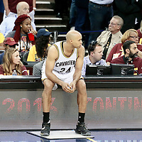 10 June 2016: Cleveland Cavaliers forward Richard Jefferson (24) is seen during the Golden State Warriors 108-97 victory over the Cleveland Cavaliers, during Game Four of the 2016 NBA Finals at the Quicken Loans Arena, Cleveland, Ohio, USA.