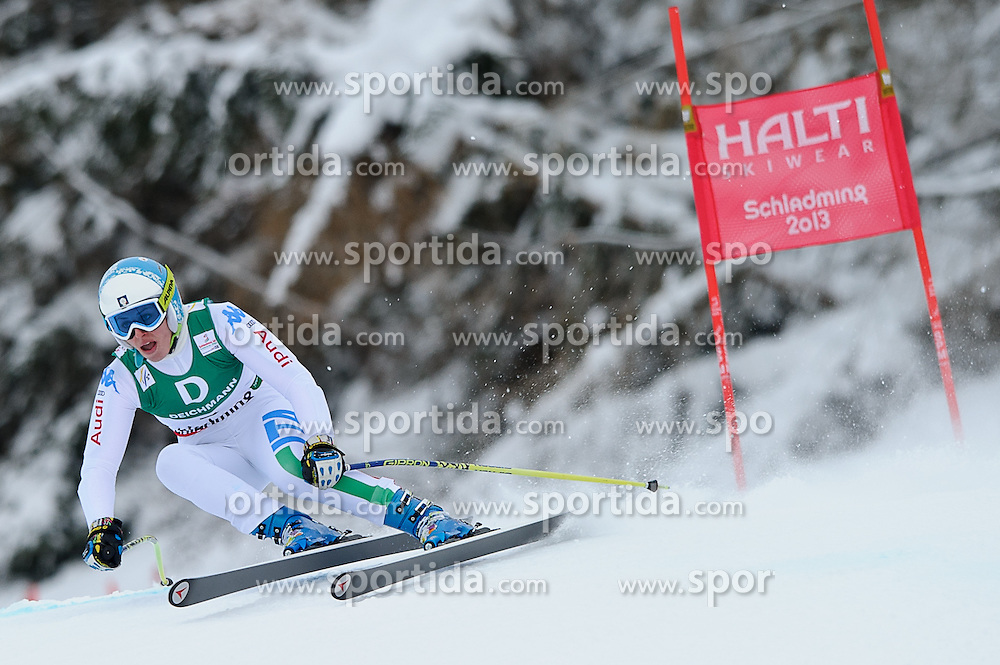 06.02.2013, Planai, Schladming, AUT, FIS Weltmeisterschaften Ski Alpin, Abfahrt, Damen, 1. Training, im Bild Nadia Fanchini (ITA) // Nadia Fanchini of Italy in action during 1st practice of Ladies Downhill at the FIS Ski World Championships 2013 at the Planai Course, Schladming, Austria on 2013/02/06. EXPA Pictures © 2013, PhotoCredit: EXPA/ Sandro Zangrando