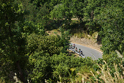 Chase group on the categorised climb on Stage 8 of the Giro Rosa - a 141.8 km road race, between Baronissi and Centola fraz. Palinuro on July 7, 2017, in Salerno, Italy. (Photo by Sean Robinson/Velofocus.com)