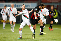 (L-R) Donny Gorter of ADO Den Haag, Ali Messaoud of Excelsior during the Dutch Eredivisie match between sbv Excelsior Rotterdam and ADO Den Haag at Van Donge & De Roo stadium on March 16, 2018 in Rotterdam, The Netherlands