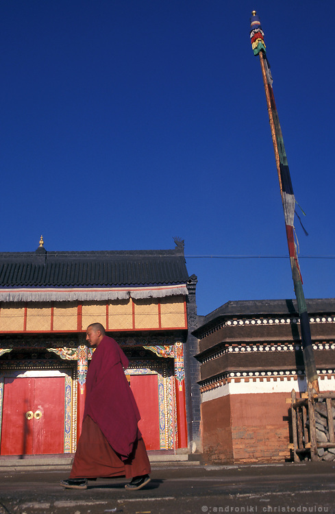 The frond of the female monastery..LAMBRANG MONASTERY IN XIAHE - CHINA.copyright: Androniki Christodoulou.