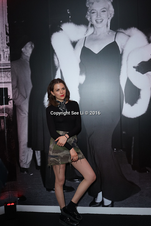 London,England,UK : 25th May 2016 : Morgane Polanski attend the Marilyn Monroe: Legacy of a Legend launch at the Design Centre, Chelsea Harbour, London. Photo by See Li
