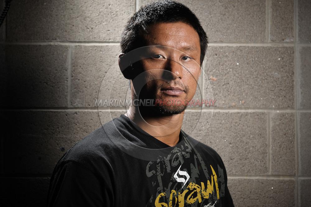 "A portrait of mixed martial arts athlete Yoshiyuki ""Zenko"" Yoshida"