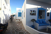 Traditional Greek houses on Antiparos, a small Greek island in the southern Aegean, at the heart of the Cyclades, Near Paros