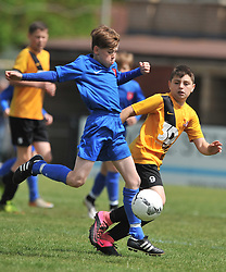 MAWSLEY FC v S&L CORBY UNDER 13S,  Weetabix Cup Final Steel Park Corby, Sunday 22nd May 2016. Photo:Mike Capps