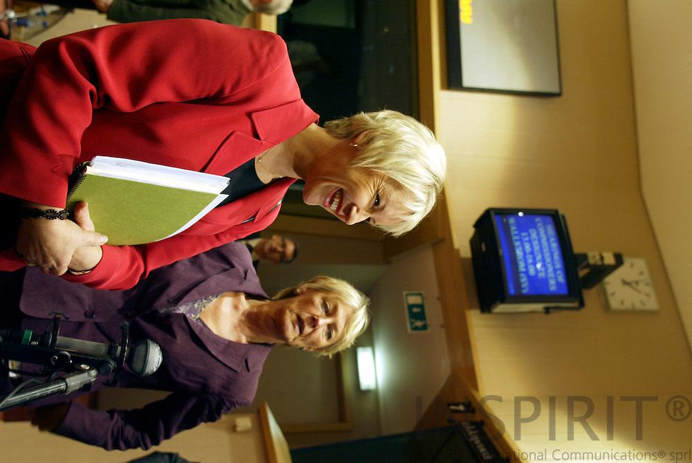 BRUSSELS - BELGIUM - 30 SEPTEMBER 2004 --Hearing of Margot WALLSTROM (Wallström, Wallstroem), Swedish Commissioner designate in charge of Institutional Relations and Communication. -- PHOTO: ERIK LUNTANG / INSPIRIT