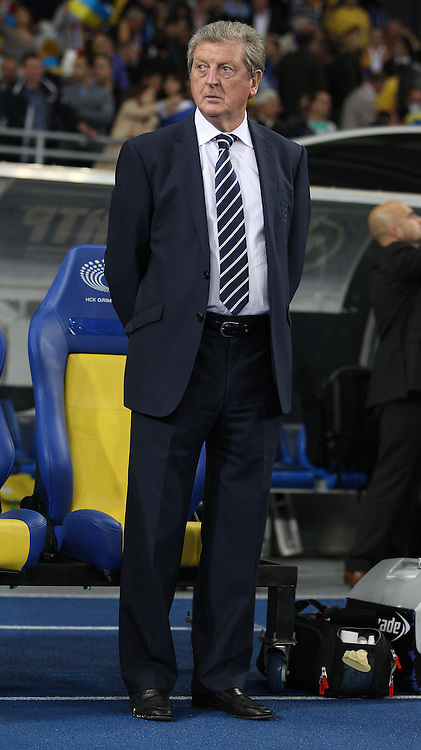 Picture by Paul Terry/Focus Images Ltd +44 7545 642257<br /> 10/09/2013<br /> Roy Hodgson, manager of England during the 2014 FIFA World Cup Qualifying match at the Olympic Stadium, Kiev.