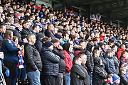 Rangers fans fill the stands at both ends of the ground during the Ladbrokes Scottish Premiership match between St Mirren and Rangers at the Simple Digital Arena, Paisley, Scotland on 3 November 2018.