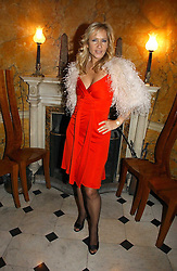 TV presenter TANIA BRYER at a party hosted by Westfield and the British Fashion Council to celebrate Fashion Forward held at Home House, 20 Portman Square, London W1 on 30th January 2007.<br />