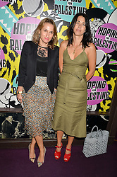 Left to right, CHRISTINA D'ORNANO and EMILY SHEFFIELD at Hoping's Greatest Hits - the 10th Anniversary of The Hoping Foundation's charity benefit held at Ronnie Scott's, 47 Frith Street, Soho, London on 16th June 2016.