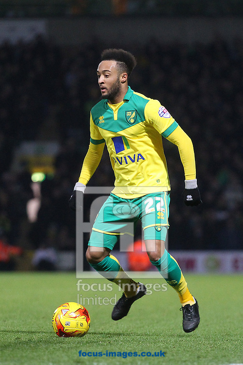 Nathan Redmond of Norwich in action during the Sky Bet Championship match at Carrow Road, Norwich<br /> Picture by Paul Chesterton/Focus Images Ltd +44 7904 640267<br /> 13/12/2014