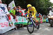 Geraint Thomas (GBR - Team Sky) during the 105th Edition of Tour de France 2018, cycling race stage 20, time trial, Saint Pee sur Nivelle - Espelette (31 km) on July 28, 2018 in Espelette, France - Photo Kei Tsuji / BettiniPhoto / ProSportsImages / DPPI