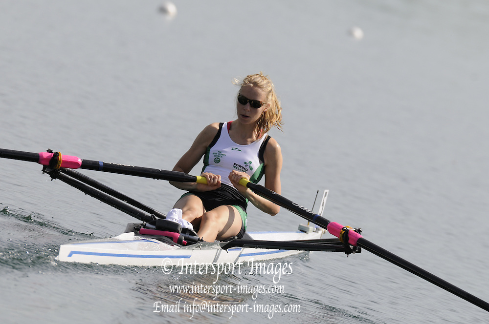 Munich, GERMANY,  Friday Heats. IRL LW1X. Claire LAMBE. 2012 FISA World Cup III on the Munich Olympic Rowing Course,  Friday   15/06/2012. [Mandatory Credit Peter Spurrier/ Intersport Images]