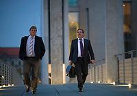 DEU, Deutschland, Germany, Berlin, 26.09.2017: Rainer Kraft (MdB, AfD) und Martin Hebner (MdB, AfD) nach der ersten Fraktionssitzung der AfD-Bundestagsfraktion im Deutschen Bundestag.