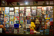 A Bookshop displays its titles in the window in the Lucerna Gallery, on 19th March, 2018, in Prague, the Czech Republic.