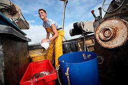 UK ENGLAND DEVON TEIGNMOUTH 10SEP16 - Fisherman  Brendon Hall (19) of Teignmouth land on his boat at Teignmouth harbour, Devon, England.<br /> <br /> jre/Photo by Jiri Rezac<br /> <br /> &copy; Jiri Rezac 2016