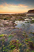 Low tide at the Naples reef on Saturday afternoon on October 9, 2010.  This stretch along the Gaviota area is considered to be one of the healthier reef systems left on the Southern California coastline.  Despite the beach's natural beauty and sanctuary status, the adjoining coastal lands are under the threat of imminent urban development.  HDR image, tripod, no flash.  (Photo by Aaron Schmidt/Brooks Institute © 2010)