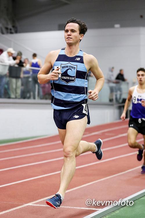 mens 3000 meters, Kevin Cooper, Ocean State AC, Multi-team Meet Indoor Track & Field