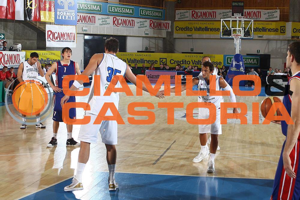 DESCRIZIONE : Bormio Torneo Internazionale Maschile Diego Gianatti Italia Repubblica Ceca Italy Czech Republic  <br /> GIOCATORE : Andrea Bargnani Marco Belinelli<br /> SQUADRA : Italia Italy<br /> EVENTO : Raduno Collegiale Nazionale Maschile <br /> GARA : Italia Repubblica Ceca Italy Czech Republic<br /> DATA : 18/07/2009 <br /> CATEGORIA : esultanza<br /> SPORT : Pallacanestro <br /> AUTORE : Agenzia Ciamillo-Castoria/C.De Massis