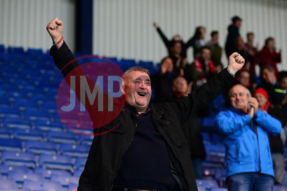 Fleetwood Town fans celebrate a goal  - Mandatory by-line: Dougie Allward/JMP - 05/04/2017 - FOOTBALL - Kassam Stadium - Oxford, England - Oxford United v Fleetwood Town - Sky Bet League One