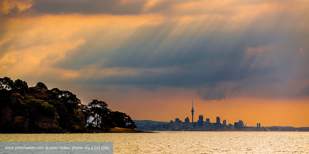 Auckland CBD as seen from Browns Island.