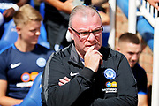 Peterborough United manager Steve Evans before the Pre-Season Friendly match between Peterborough United and Bolton Wanderers at London Road, Peterborough, England on 28 July 2018. Picture by Nigel Cole.