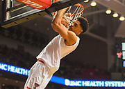 LUBBOCK, TX - MARCH 3: Zach Smith #11 of the Texas Tech Red Raiders dunks the basketball during the game against the TCU Horned Frogs on March 3, 2018 at United Supermarket Arena in Lubbock, Texas. Texas Tech defeated TCU 79-75. Texas Tech defeated TCU 79-75. (Photo by John Weast/Getty Images) *** Local Caption *** Zach Smith