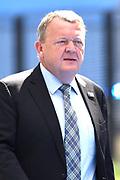 NAVO-bijeenkomst in Brussel. Tijdens de top wordt onder meer gesproken over gereedheid, inzetbaarheid en het verbeteren van de militaire mobiliteit in Europa.<br /> <br /> NATO meeting in Brussels. The summit discusses, among other things, readiness, employability and the improvement of military mobility in Europe.<br /> <br /> Op de foto / On the photo:  Premier van Denemarken Lars Lokke Rasmussen  / Prime Minister of Denmark Lars Lokke Rasmussen