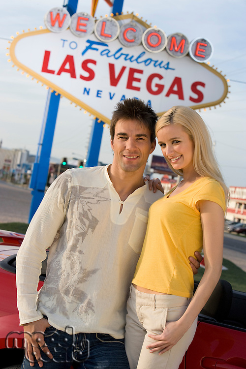 Portrait of couple in Las Vegas, Nevada, USA