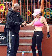 16.JUNE.2011. LONDON<br /> <br /> IMOGEN THOMAS WORKING OUT WITH A PERSONAL TRAINER OUT AND ABOUT IN LONDON.<br /> <br /> BYLINE: EDBIMAGEARCHIVE.COM<br /> <br /> *THIS IMAGE IS STRICTLY FOR UK NEWSPAPERS AND MAGAZINES ONLY*<br /> *FOR WORLD WIDE SALES AND WEB USE PLEASE CONTACT EDBIMAGEARCHIVE - 0208 954 5968*