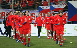 Tomas Ujfalusi and Marek Jankulovski at the 8th day qualification game of 2010 FIFA WORLD CUP SOUTH AFRICA in Group 3 between Slovenia and Czech Republic at Stadion Ljudski vrt, on March 28, 2008, in Maribor, Slovenia. Slovenia vs Czech Republic 0 : 0. (Photo by Vid Ponikvar / Sportida)