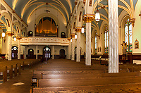Looking out from the alter of Sacred Heart church.   (Karen Bobotas/for the Laconia Daily Sun)