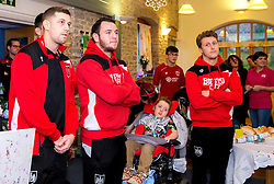Frank Fielding, Lee Tomlin and Luke Freeman of Bristol City during Bristol City's visit to the Children's Hospice South West at Charlton Farm - Mandatory by-line: Robbie Stephenson/JMP - 21/12/2016 - FOOTBALL - Children's Hospice South West - Bristol , England - Bristol City Children's Hospice Visit