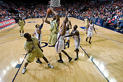 Georgia Tech forward Jeremis Smith (32) shoots against UVA.  The Virginia Cavaliers men's basketball team fell to the Georgia Tech Yellow Jackets 92-82 in overtime at the John Paul Jones Arena in Charlottesville, VA on January 27, 2008.