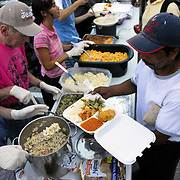 Homeless of Orlando - Volunteers at Food Kitchen - Tall Gating for Jesus - feeding the homeless street people on Saturday at 5pm in parking lot in down town Orlando