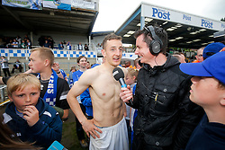 Tom Lockyer of Bristol Rovers is interviewed by the BBC after Bristol Rovers win the match in injury time to secure 3rd place in League 2, back to back promotions and a place in Sky Bet League 1 for 2016/17 - Mandatory byline: Rogan Thomson/JMP - 08/03/2016 - FOOTBALL - Memorial Stadium - Bristol, England - Bristol Rovers v Dagenham & Redbridge - Sky Bet League 2.