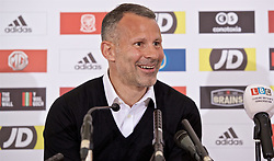 CARDIFF, WALES - Wednesday, May 29, 2019: Wales' manager Ryan Giggs during a press conference at the Wales Millennium Centre during the Urdd National Eisteddfod to announce the squad for the forthcoming UEFA Euro 2020 Qualifying Group E matches for Wales against Croatia and Hungary. (Pic by David Rawcliffe/Propaganda)