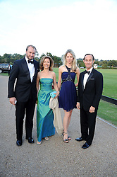 Left to right, FERNANDO MORA-FIGUEROA, MARTA GRIGORIEVE, EKATERINA LEBEDEVA and JIM GARNER at the annual Ham Polo Club Summer Ball held at the club, Petersham Road, Richmond, Surrey on 25th July 2008.<br /> <br /> NON EXCLUSIVE - WORLD RIGHTS