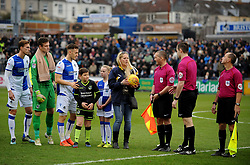 Competition winner with the match ball - Mandatory by-line: Neil Brookman/JMP - 09/12/2017 - FOOTBALL - Memorial Stadium - Bristol, England - Bristol Rovers v Southend United - Sky Bet League One