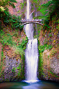 A view that's been captured many times of Multnomah Falls ... just one more rendition.