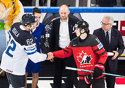 Best players Oskar Osala of Finland and Mitch Marner of Canada during the 2017 IIHF Men's World Championship group B Ice hockey match between National Teams of Canada and Finland, on May 16, 2017 in AccorHotels Arena in Paris, France. Photo by Vid Ponikvar / Sportida