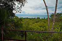 View from the deck of a bungalow at Lapa Rios Ecolodge, Osa Peninsula, Costa Rica