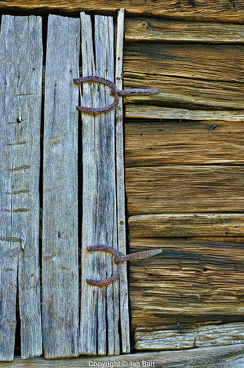 Barn Detail with Horseshoe hinges,Great Smoky Mountains,North Carolina.
