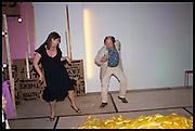 FIONA REID-TURNER; RICHARD WILSON, Matt's Gallery 35th birthday fundraising supper.  42-44 Copperfield Road, London E3 4RR. 12 June 2014.