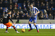 Brighton & Hove Albion winger Jamie Murphy (15) during the EFL Sky Bet Championship match between Brighton and Hove Albion and Sheffield Wednesday at the American Express Community Stadium, Brighton and Hove, England on 20 January 2017. Photo by Phil Duncan.