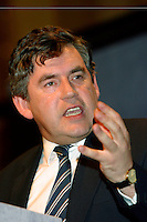 Gordon Brown MP, Chancellor of the Exchequer, speaking at the TUC