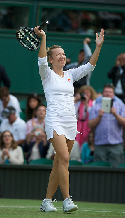 LONDON, ENGLAND - Saturday, July 2, 2011: Kveta Peschke (CZE) celebrates after winning the Ladies' Doubles Final match on day twelve of the Wimbledon Lawn Tennis Championships at the All England Lawn Tennis and Croquet Club. (Pic by David Rawcliffe/Propaganda)