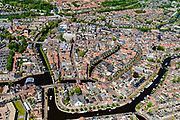 Nederland, Friesland, Súdwest-Fryslân, 07-05-2018; <br /> stadsgezicht Sneek, historische binnenstad met onder andere stadsgrachten en de Waterpoort.<br /> Sneek, small town in Friesland. <br /> luchtfoto (toeslag op standard tarieven);<br /> aerial photo (additional fee required);<br /> copyright foto/photo Siebe Swart
